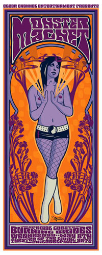 Darren Grealish and Jeff Wood - Drowning Creek Monster Magnet Poster