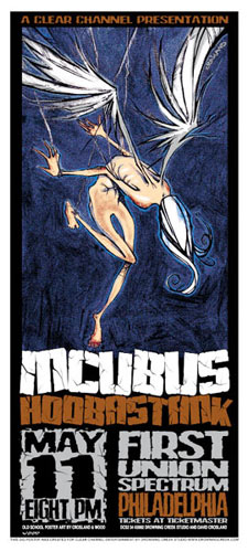 David Crosland and Jeff Wood - Drowning Creek Incubus Handbill