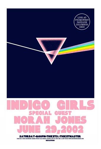 Jeff Wood and Judy Gex - Drowning Creek Indigo Girls Poster