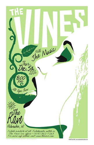 Dave Gink and Jeff Wood - Drowning Creek The Vines Poster
