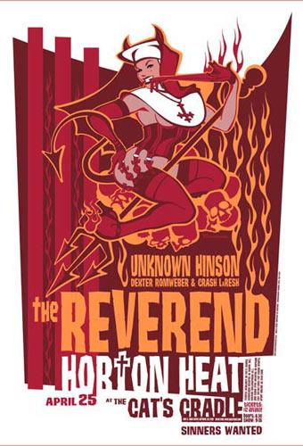 Andrew Bawidamann - Drowning Creek Reverend Horton Heat Poster