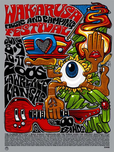 Jeff Wood - Drowning Creek Wakarusa Music and Camping Festival Poster