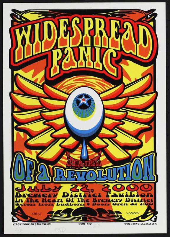 Jeff Wood - Drowning Creek Widespread Panic Poster