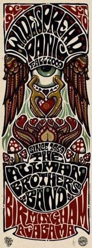 Jeff Wood - Drowning Creek Allman Brothers Poster