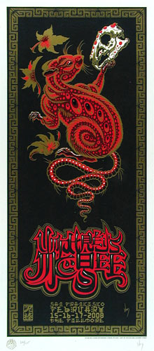 Jeff Wood and Johnny Thief - Drowning Creek Umphrey's McGee Chinese New Year of the Rat Poster