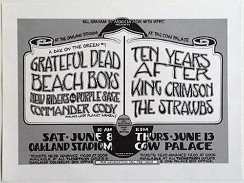 Randy Tuten Grateful Dead Beach Boys Day on the Green Poster
