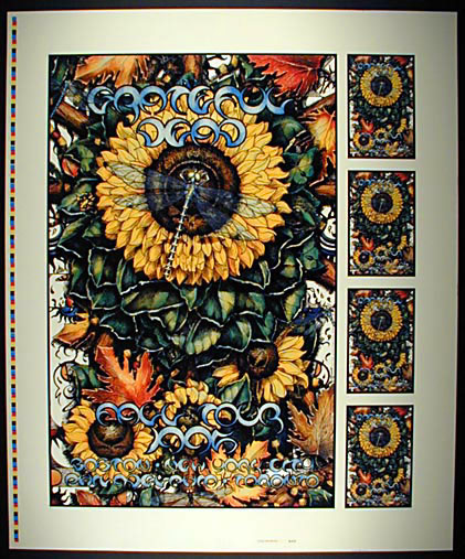 Michael Everett Grateful Dead Fall 1995 Tour Poster Uncut Proofsheet