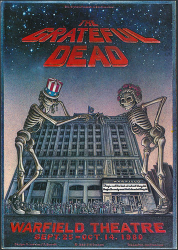 Dennis Larkins Original Grateful Dead Warfield Poster