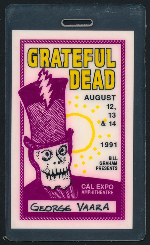 Grateful Dead Sacramento 1991 Laminate