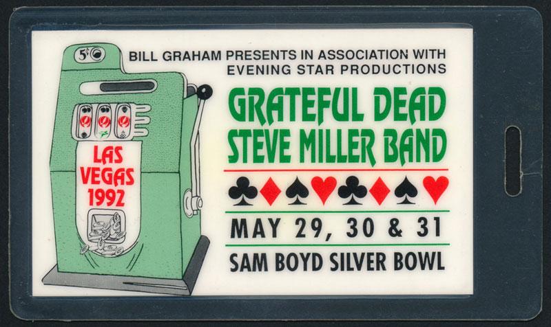Grateful Dead UNLV 1992 Laminate