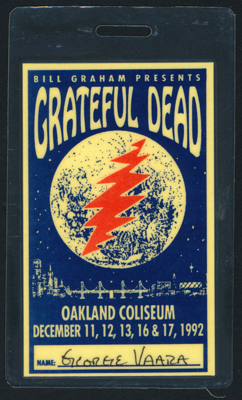 Grateful Dead Oaklnad 1992 Laminate