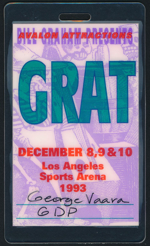 Grateful Dead Los Angeles 1993 Laminate