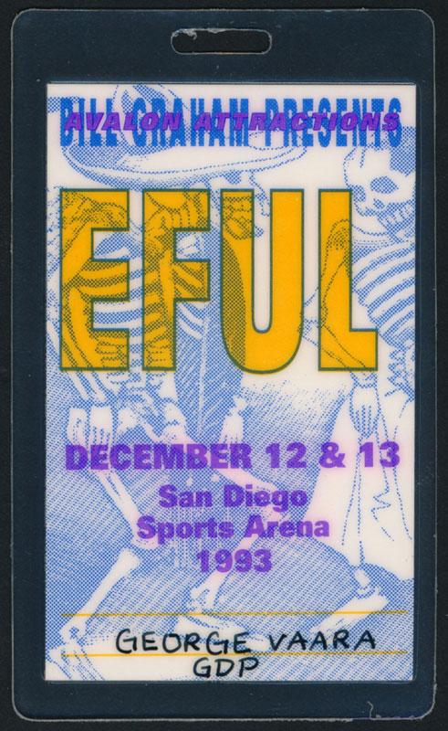 Grateful Dead San Diego 1993 Laminate