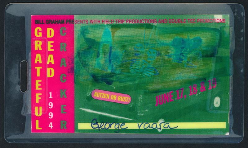 Grateful Dead Eugene 1994 Laminate