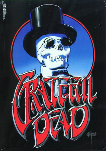 Rick Griffin Grateful Dead Embossed Metal Sign