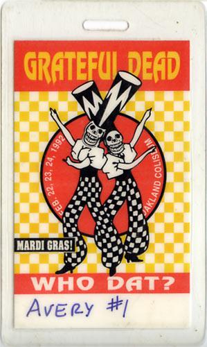 Grateful Dead Mardi Gras Laminate