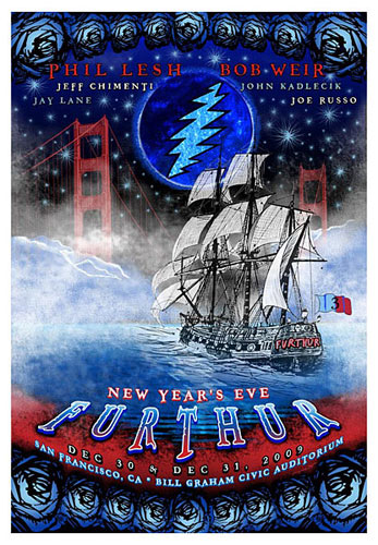 Taylor Swope Furthur New Years Eve 2009-2010 Poster