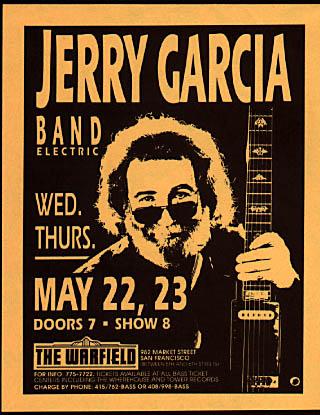 Jerry Garcia Band Photo Handbill