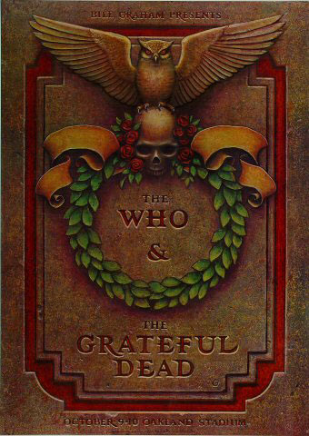 Phillip Garris The Who Grateful Dead Tombstone Poster