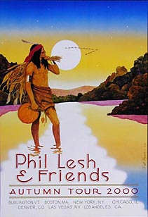 Pat Ryan Phil Lesh 2000 Autumn Tour Poster