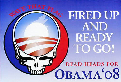 Deadheads For Obama Poster