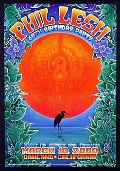 Michael Everett Phil Lesh 60th Birthday Poster