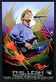 Stanley Mouse Phil Lesh 60th Birthday Poster