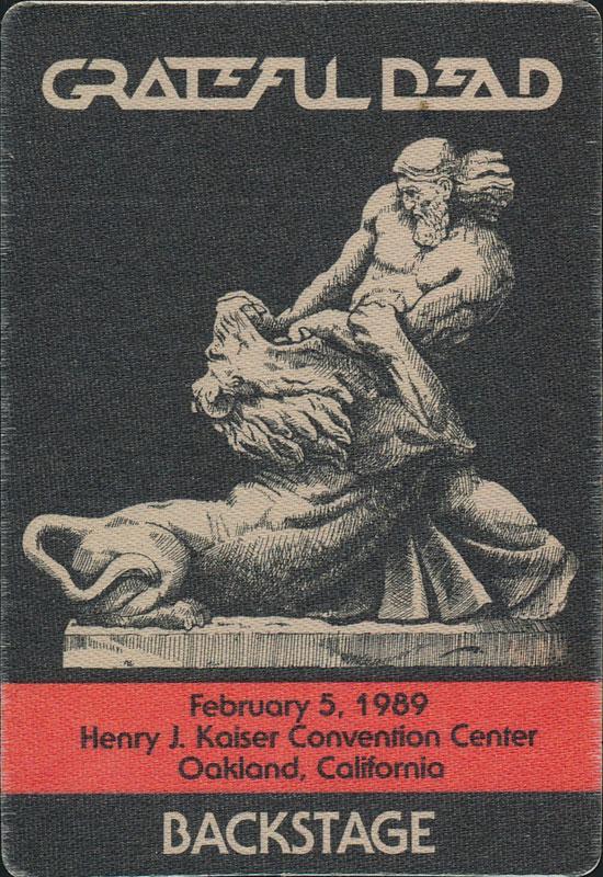 Grateful Dead 2/5/1989 Oakland Backstage Pass