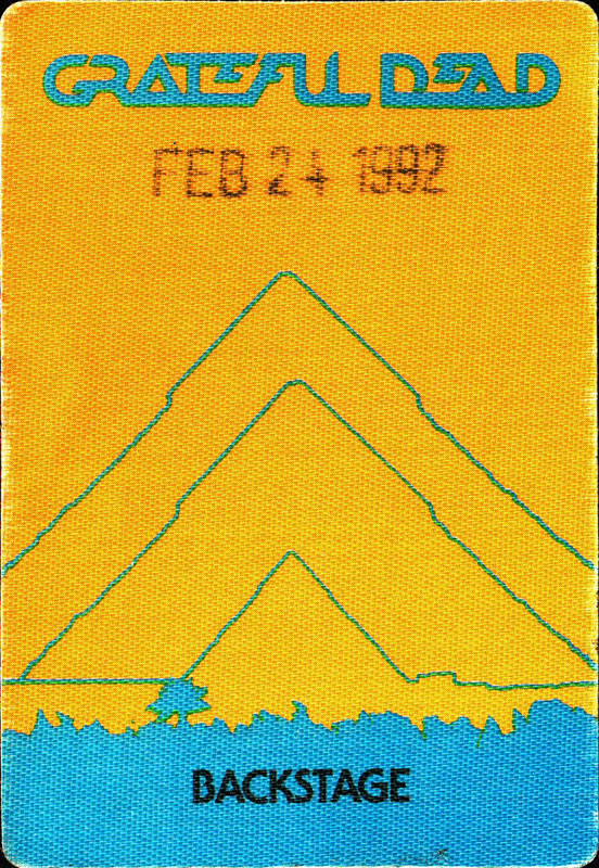 Grateful Dead 2/24/1992 Oakland Backstage Pass