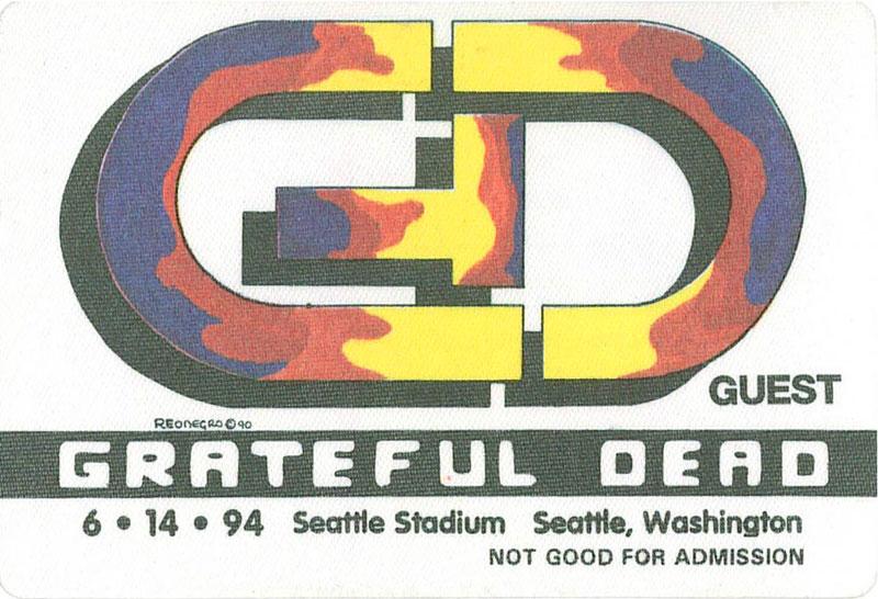 Grateful Dead 6/14/1994 Seattle Backstage Pass