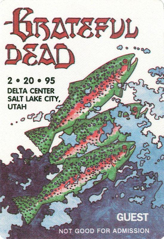 Grateful Dead 2/20/1995 Salt Lake City Backstage Pass