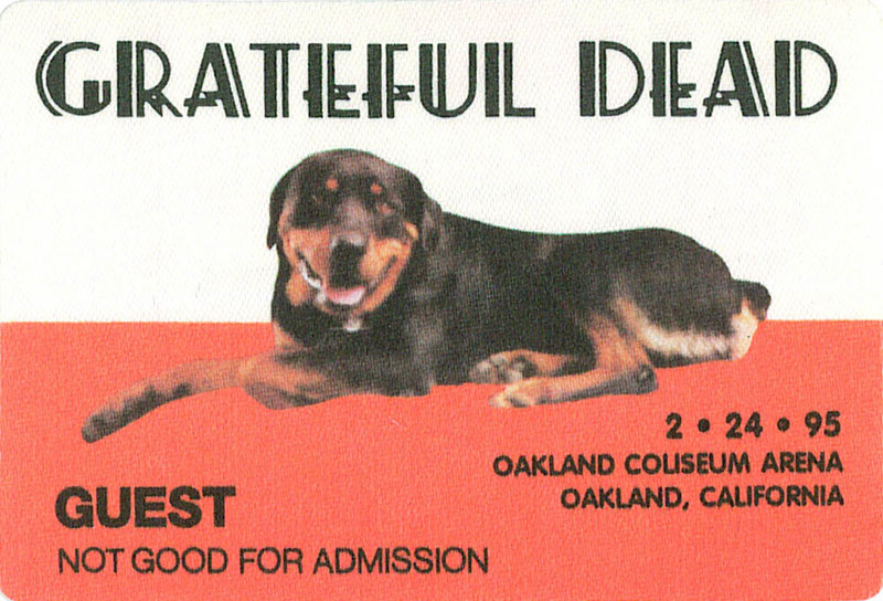 Grateful Dead 2/24/1995 Oakland Backstage Pass