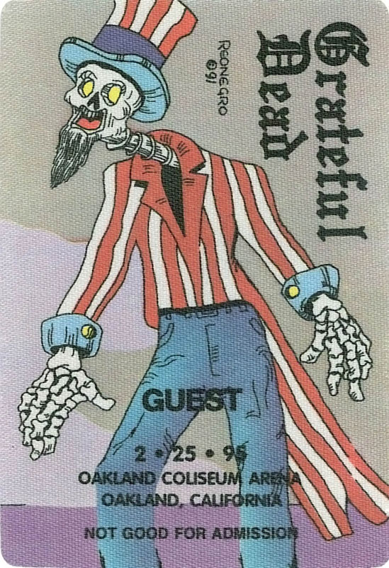 Grateful Dead 2/25/1995 Oakland Backstage Pass