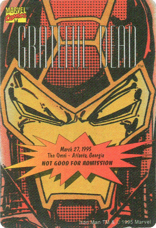 Grateful Dead - Marvel Iron Man Backstage Pass