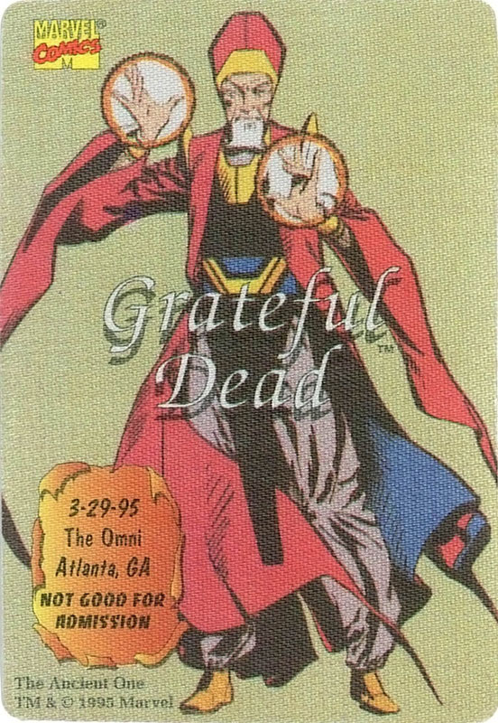 Grateful Dead - Marvel The Ancient One Backstage Pass
