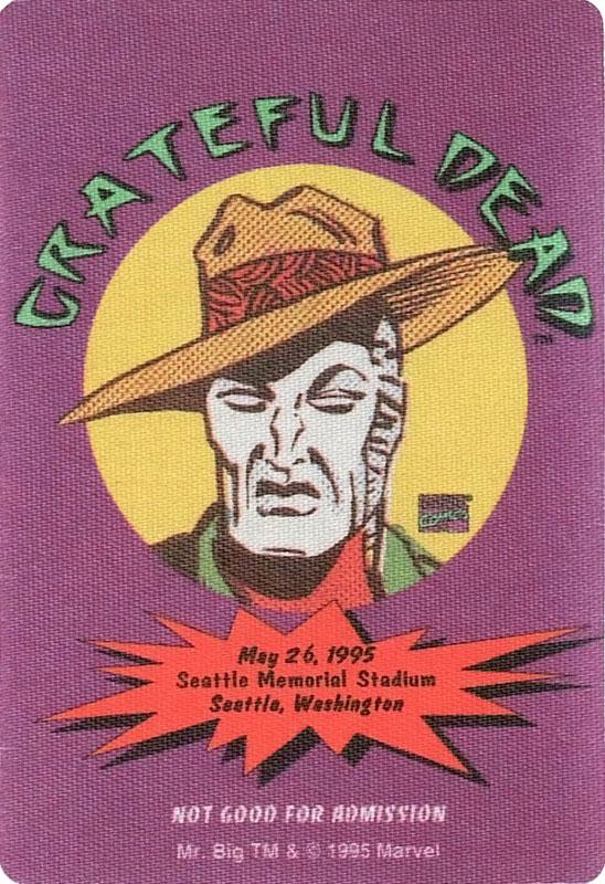 Grateful Dead 5/26/1995 Mr. Big Marvel Backstage Pass