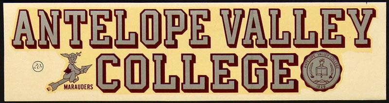 Antelope Valley College Marauders Decal