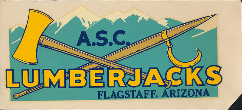 Arizona State College at Flagstaff Lumberjacks Decal