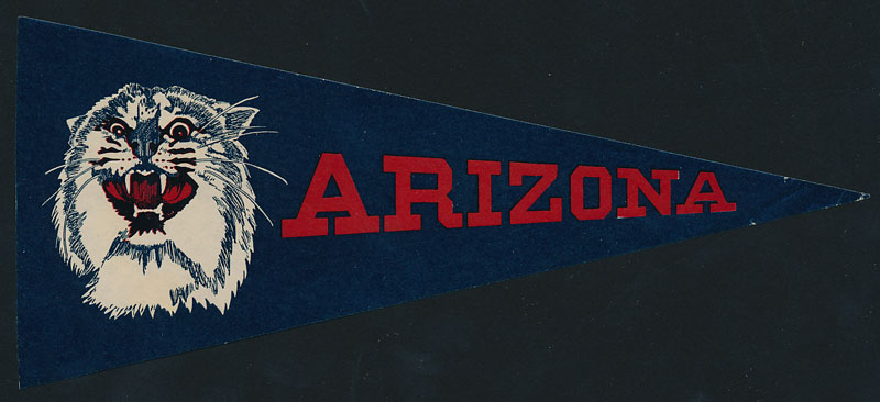 University of Arizona Flag Paper Sticker Sticker