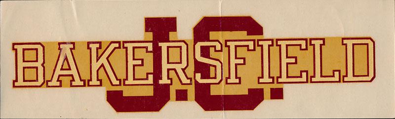 Bakersfield Junior College Decal