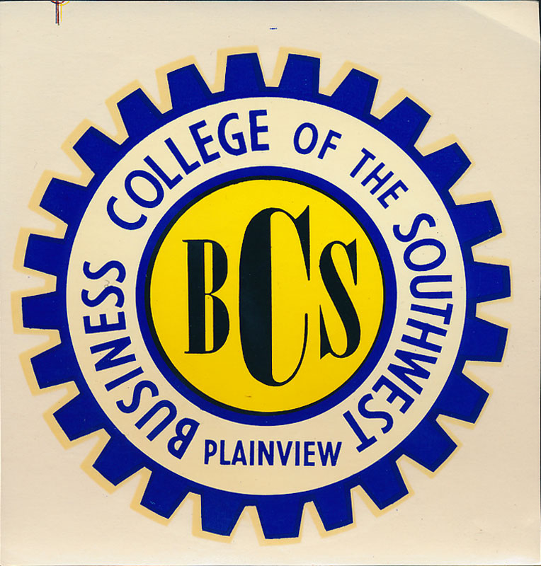 Business College of the Southwest Plainview TX Decal