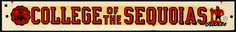 College of the Sequoias Giants Decal