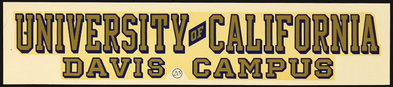 University of California Davis Aggies Decal