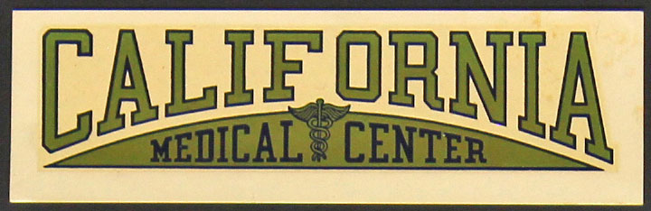 University of California San Francisco Medical Center Hospital Decal