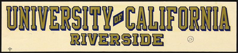 University of California Riverside Decal