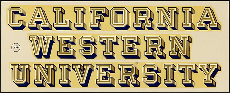 California Western University Decal