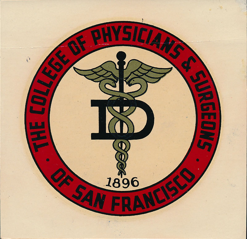College of Physicians and Surgeons of San Francisco Decal