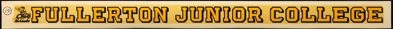 Fullerton Junior College Hornets Decal
