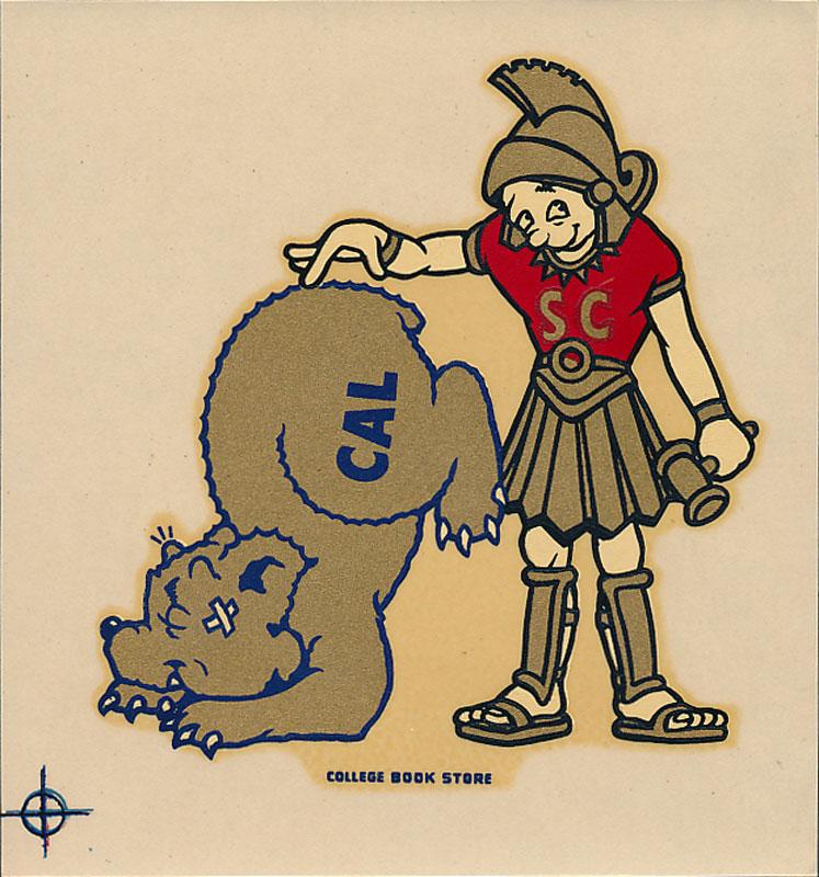USC vs UC Cal Berkeley Game Decal