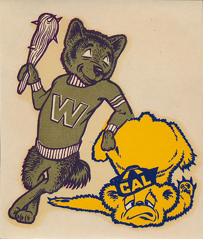 University of Washington vs UC Cal Berkeley Game Decal
